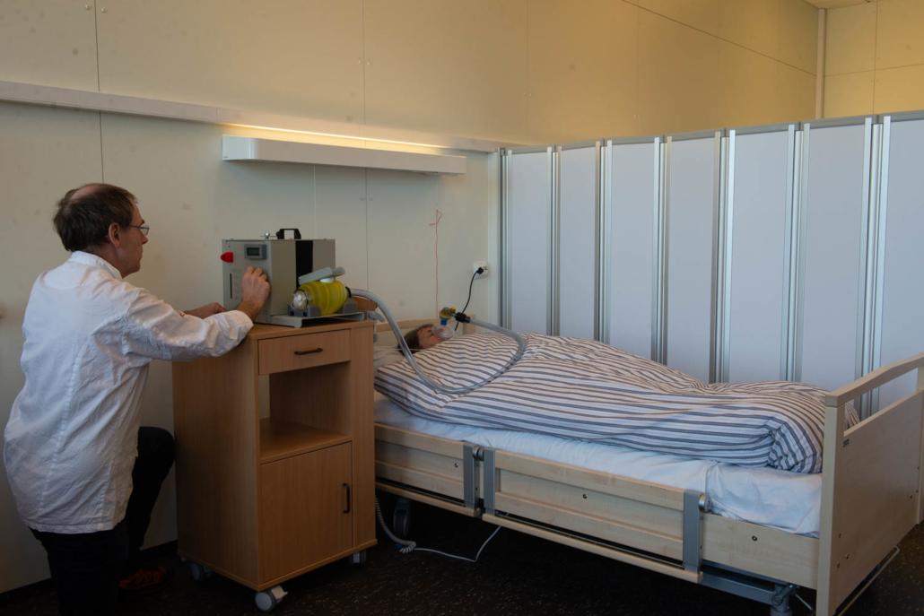 EEV, Edge Emergency Ventilator and bed